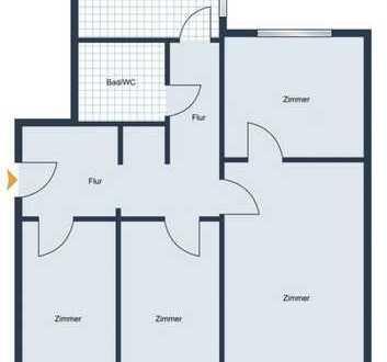 Bezugsfrei / Ohne Käuferprovision, 4-Zimmer Wohnung