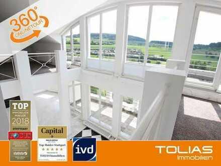 Trendsetter! - Moderne und sehr helle Maisonettewohnung mit Galerie, Loggia und Dach-Terrasse