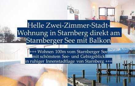 Helle Zwei-Zimmer-Stadt Wohnung direkt am Starnberger See mit Balkon