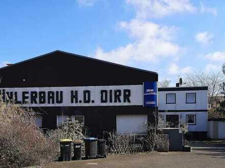 Castrop-Rauxel / Stadtgrenze Herne: Werkhalle mit 280 qm Nutz- und Wohnhaus mit 109 qm Wohnfläche