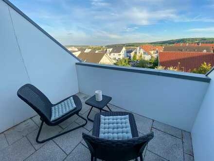 Sonnige, möblierte Maisonettewohnung direkt in Malmsheim-Renningen