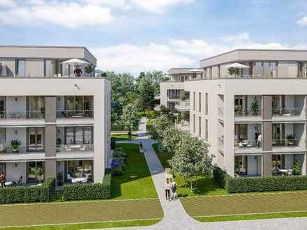 Neubau – Münchner Südosten, exklusive 3-Zimmer-DT-Wohnung mit Süd-West-Terrasse