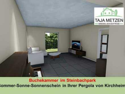 Buchekammer im Steinbachpark Sommer-Sonne-Sonnenschein in Ihrer Pergola mit Garten in Kirchheim!