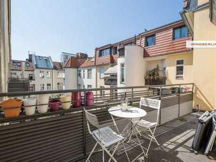 IMMOBERLIN: 1A-Wohnung mit Südbalkon in Toplage