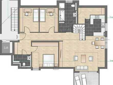 Reinkommen und wohlfühlen: Helle 5-Zimmer-Maisonettewohnung mit zwei Balkonen und großzügigem Studio