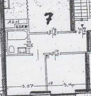 Optimal aufgeteilte 3-Zimmer-DG-Wohnung mit Einbauküche in Münster