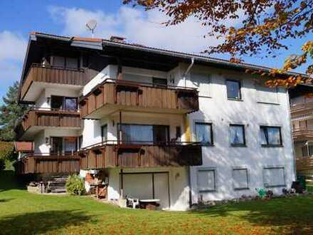 Ruhig gelegen - 3-Zi. - Wohnung mit tollem Blick in bevorzugter Lage von Oberstaufen