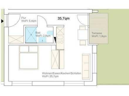Geschmackvolle 1-Raum-Wohnung mit Balkon und EBK in Rutesheim