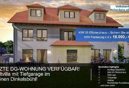 Stadtvilla Dinkelsbühl - Traumhafte DG-Wohnung mit Loggia und Balkon inkl. TG und Außenstellpl