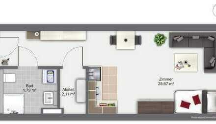Attraktive Kapitalanlage: Vermietete 1-Zimmer-ETW in Dossenheim