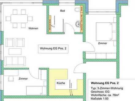 Erstbezug: Barrierefreie, schöne 3-Zimmer-Wohnung in Gruibingen