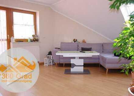 WOHNWELT IMMOBILIEN: Direkt am Goldach-Park: DG-Maisonette-Wohnung mit riesiger Balkon-Terrasse