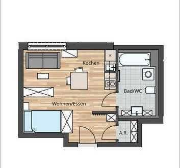 DIE perfekte Kapitalanlage - 1 Zimmer Wohnung (Tegernsee)
