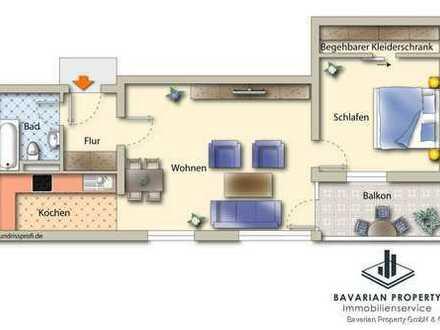 2-Zimmer-Wohnung in Straubing-Süd