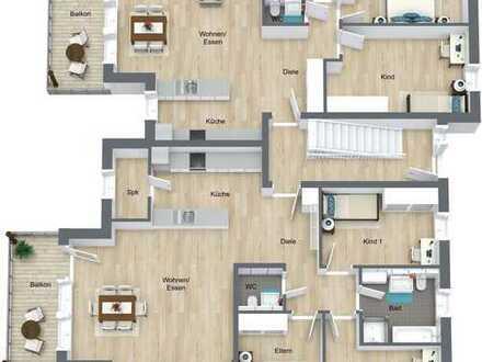 Erdgeschoss-Wohnung mit Balkon