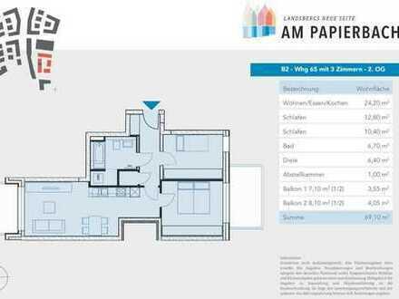 Wohnung mit 3-Zimmern im Herzen von Landsberg -Baufeld B2 Westriegel-