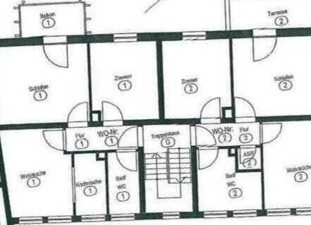 Helle und geräumige 2 Zi. Wohnung mit Balkon