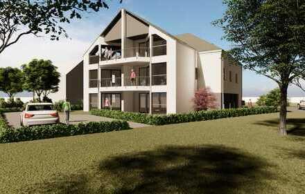 Neubau**Erdgeschosswohnung im attraktiven 7-Familienhaus mit Aufzug und Loggia