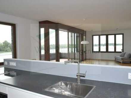 WohnRaumAgentur: Mainz 4 Zimmerwohnung Balkon mit Rheinblick von beiden Seiten