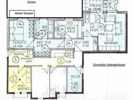 Gepflegte 2,5 Zimmer-Wohnung mit Terasse und EBK in Blaustein-Arnegg