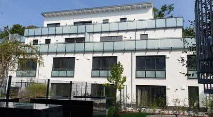 Erstbezug nahe BMW: attraktive 1-Zimmer-EG-Wohnung mit Einbauküche und Terrasse