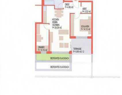 3,5 Zi. Neubau Penthouse mit Aufzug in Mosbach