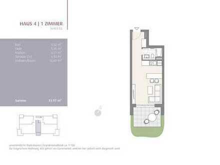 1-Zimmer Appartement! (403)