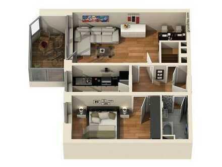 Exklusive, gepflegte 2-Zimmer-Wohnung mit großzügiger Loggia und Einbauküche in Germering