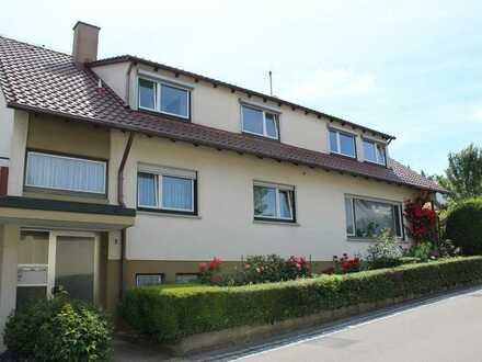Gemütliche 3 Zi.-Wohnung mit großer Dachterrasse in einem ruhig gelegenen Zweifamilienhaus