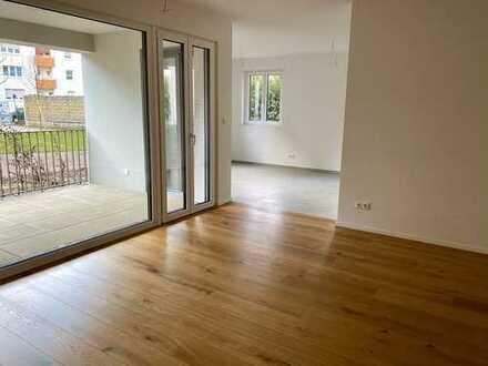 Neubau: 2-Zimmer-EG-Wohnung mit EBK und Balkon im Zentrum Weil am Rhein