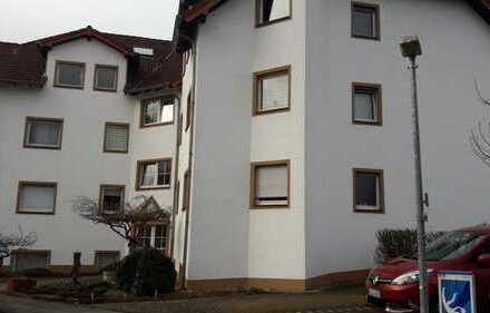 Gepflegte 2-Zimmer-EG-Wohnung mit Balkon in Glessen