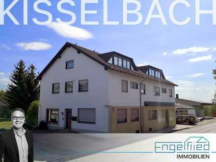 Leben + Arbeiten oder komplett vermieten: Große Eigentumswohnung, Bürofläche, 430-m²-Halle + Garagen
