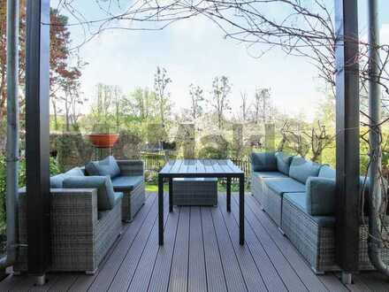 Haus-im-Haus-Flair mit Sauna im grünen Idyll: Modernisierte 5-Zimmer-Maisonette in Lockwitz