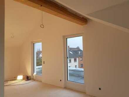Erstbezug! Helle und offene Zweizimmer-Neubauwohnung mit Dachterrasse im 2. OG (Dachgeschoss)