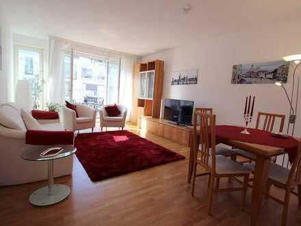 Exklusiv möblierte 3-Zimmer-Wohnung in den Nymphenburger Höfen