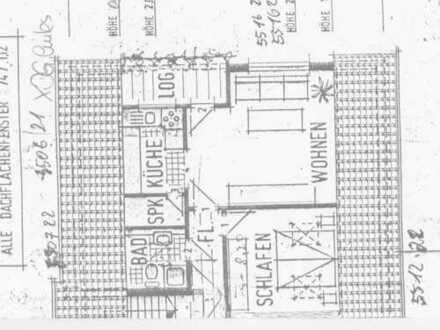 Gepflegte 2-Zimmer-DG-Wohnung mit Balkon und Einbauküche in Frankenberg (Eder)