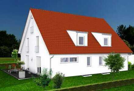 VIEL PLATZ: Doppelhaushälfte mit Keller * ruhige Lage * S-Bahn (S2) im Ort