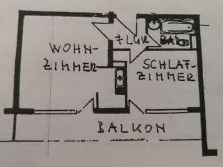 Exklusive 2-Zimmer-Wohnung mit Balkon in Offenbach am Main VB Preis
