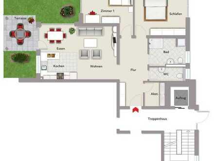 Neubau! 3,5 Zimmer-Wohnung im Erdgeschoss