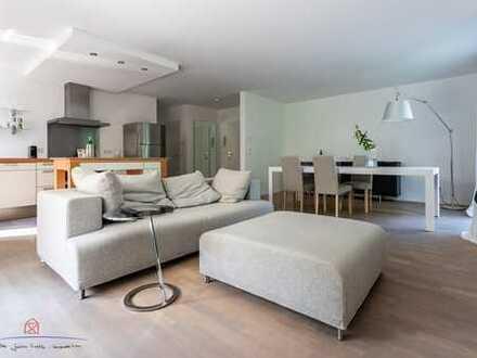 Moderne, geschmackvolle, großzügige EG-Wohnung mit Gartenterrasse u. Doppelgarage