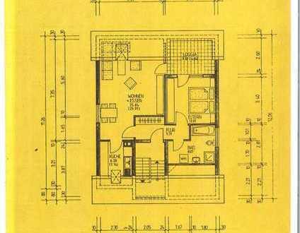 In Karlsruhe-Durlach: Gepflegte DG-Wohnung mit zweieinhalb Zimmern und Dachloggia