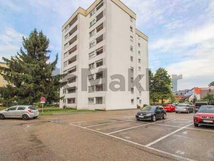 Bewohnte 3-Zimmer-Wohnung mit Balkon u. TG-Stellplatz in attraktiver Stadtrandlage - Erbbaurecht