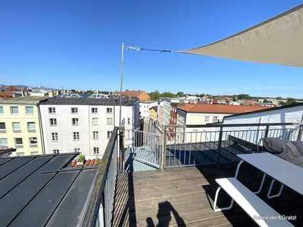 Traumhafte 3-Zimmer-Dachterrassen-Wohnung in zentraler Citylage Rosenheim
