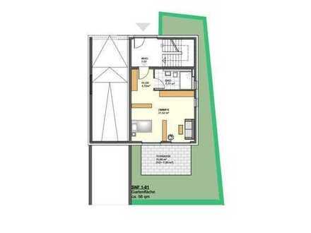 Stilvolle, neuwertige 1,5-Zimmer-EG-Wohnung mit Terrasse/Garten und Einbauküche in Müllheim