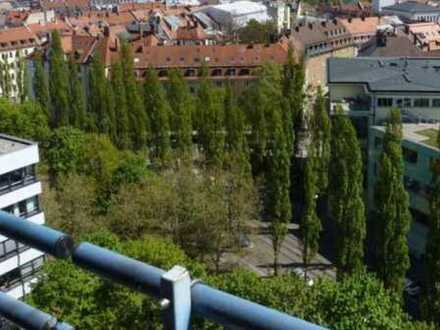 20qm with amazing views in the city center