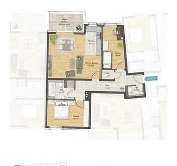 Erstbezug: stilvolle 3-Zimmer-Wohnung mit EBK und Balkon in Ludwigshafen - Melm