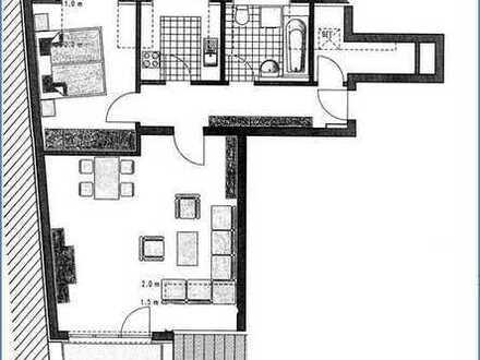 Helle, gepflegte 2-Zimmer-Dachgeschosswohnung mit Balkon und Einbauküche in München Moosach
