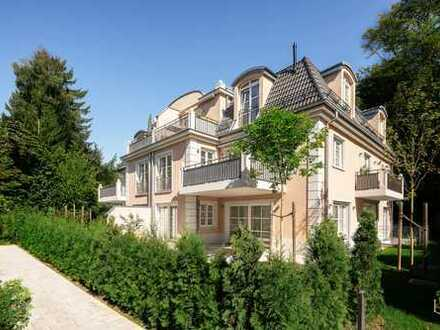 Isarhochufer/ Harlaching: Exklusive 3-Zimmer-Gartenwohnung mit ausgebautem und edlem Souterrain