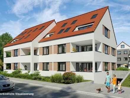 Neubau in Weinstadt-Strümpfelbach 4,5 Zimmer EG Wohnung mit SNR Garten (barrierefrei § 35 LBO)