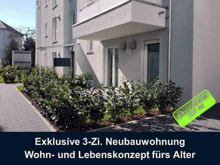 Exklusive 3-Zi. Neubauwohnung Wohn- und Lebenskonzept fürs Alter (Kapitalanlage)